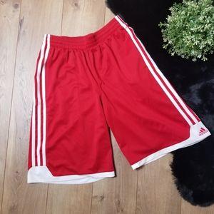 Adidas Red Sport Shorts Three Sripe Classic